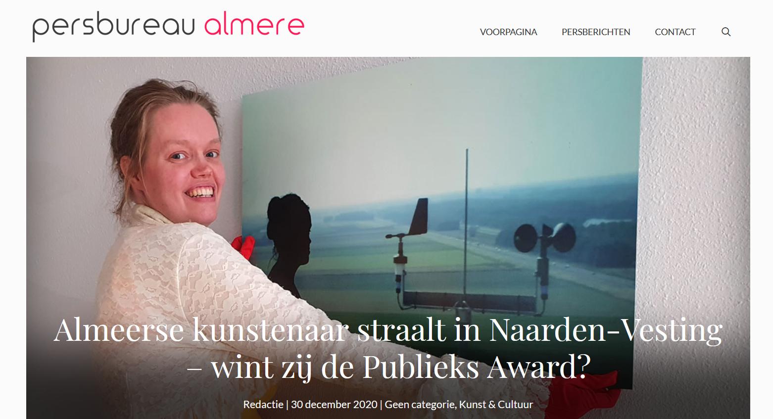 Almeerse kunstenaar straalt in Almere